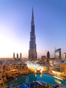 The view surrounding the Burj Khalifa