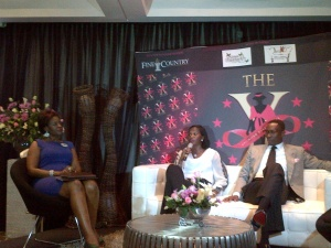 Mrs Jumoke Adenowo and Pastor Tony & Nkoyo Rapu at the WOW DIVAS X-Factor event held at the Wheatbaker 23rd March 2013