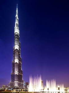 The Burj Khalifa (by night or by day). It inspires me no end! Read my blog post on the Burj Khalifa if you haven't already.