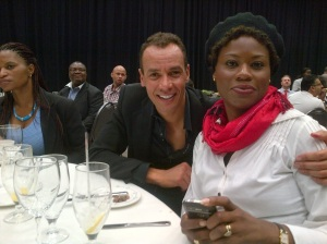Robin Banks & my friend Stella, at the Success Summit, South Africa- March 2013