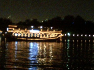 The Dhow Rides! Good food! On water! At night with all the lovely lights! I couldn't ask for more!