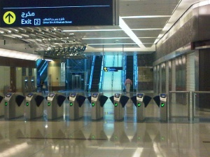 The Dubai metro stations! Clean, beautiful, efficient! Made me wonder about Nigeria and the use of her oil money!