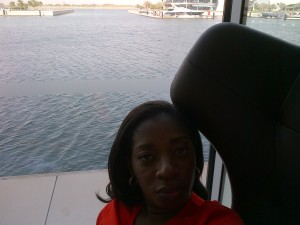 My reading spot at the Yas! Peaceful! Quiet! Overlooks the marina and of course my yacht.