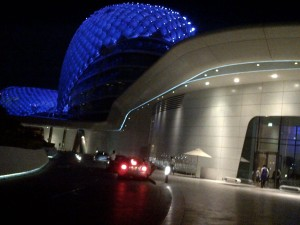 The beautiful rooftop of the Yas Viceroy in Abu Dhabi
