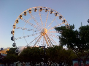 The Ferris Wheel in front of the Victoria & Alfred Mall