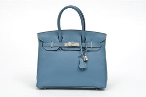 """An Hermes blue jean Birkin with palladium hardware! This would be the bag of my dreams- true! But because of words like fiscal responsibility and because I know that though """"all things are lawful, not all things are expedient"""" and because I understand times and seasons, I will pass on this for a long long time to come. (LOL! From that rationalisation, you can see this is something I have thought about for a bit...) but the next choice may be more realistic with proper planning, saving and priortising. Photo courtesy baggersclub.blogspot.com"""