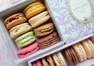 I have read so much about macarons at Laduree, I can almost taste them. I imagine them melting in my mouth, yeah, yeah, I know that's alot of sugar but I promise to jog when I return from Paris. LOL! Photo courtesy thetravelcrew.wordpress.com