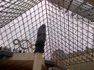 The Louvre pyramid from the inside!