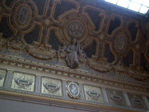 No detail was spared! Even the ceilings were works of art!