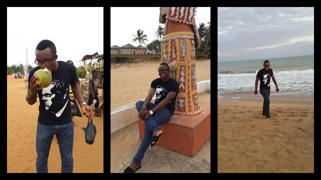 Out & About Ouidah, and enjoying Coconut Juice as the locals do! Must be absolutely refreshing!