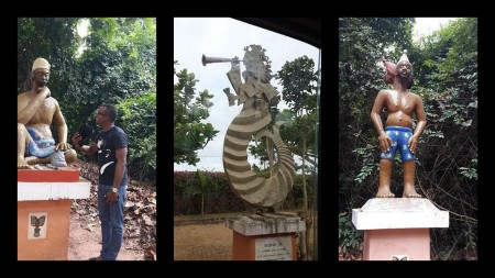 When Muna visited the sacred forest! I see him chatting with one of the statures- LOL!