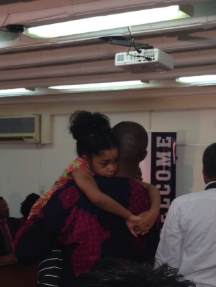 Zuriel's dad, Adewole, carrying her younger sister, while answering the questions and manning the camera! God bless fathers that stay and empower and love! You can tell the effect of a father that's present in the life of his kids!