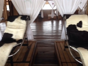 Lounged on these lovely sheep skin lounge beds afterwards. I wish I could take this home with me.