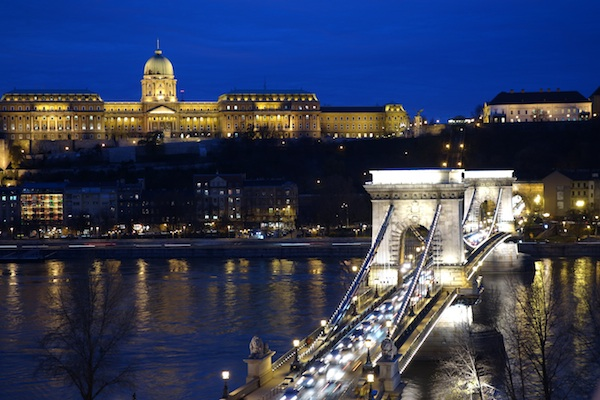 Budapest at night! A photo taken by Katherine on her recent visit via her blog at www.featherfactor.com