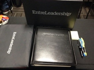 Box on top with Entreleadship on it had the books and the binder  with course materials is lying flat (should take better pictures, I know).