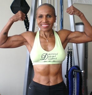 75 year old Ernestine Shepherd! Would you say she got to look like this at 75 by chance?