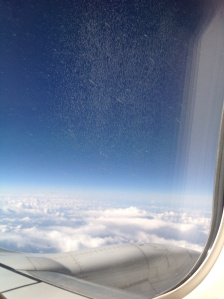 In the clouds on the way to the Republic of Ireland