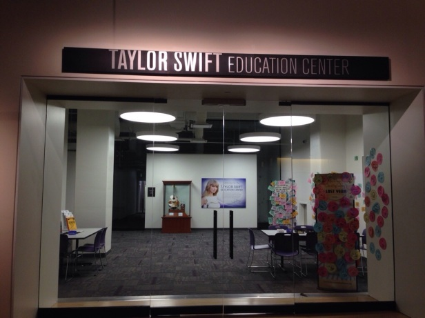 "Taylor Swift ""sponsors"" an education centre in the Country Music Hall of Fame. She is still loved there, didn't feel much love for lil Ms. Cyrus there though."