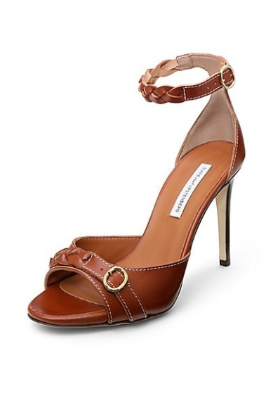 Lovely ankle strap DVF shoes