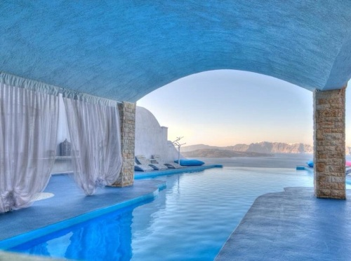 A spa in Santorini