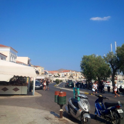 Aegina, I bought loads of honey coated pistachio nuts and and sesame seeds...