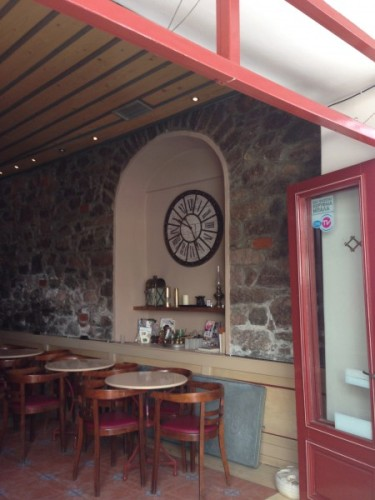 Coffee shop, Poros, I liked the clock!