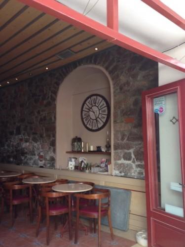 Coffee shop, Poros, I liked the clock!