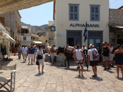In Hydra, no motorized form of transportation  is allowed, so people on the Island either walk or ride on the mules and horses. It was quite charming...