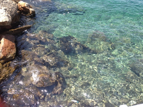 The waters were sooooo clear around Hydra! My heart kept expanding...
