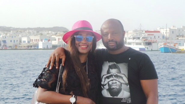Ola and her better half in Mykonos!