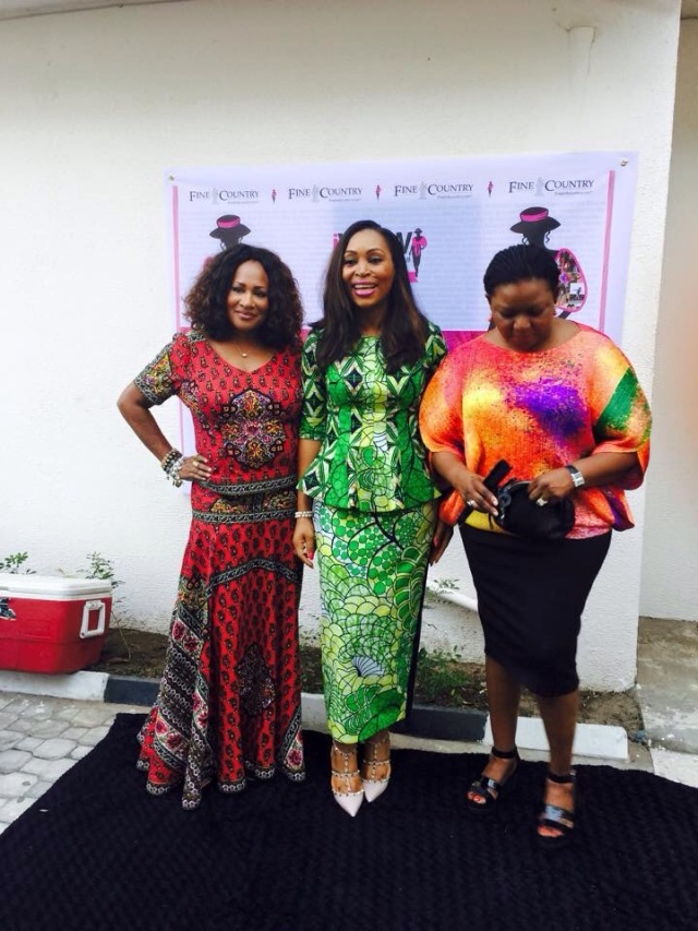 Ms. Michelle McKinney Hammond, Udo Okonjo and Bola Adesola at the iWOW GPS opening day cocktail event.