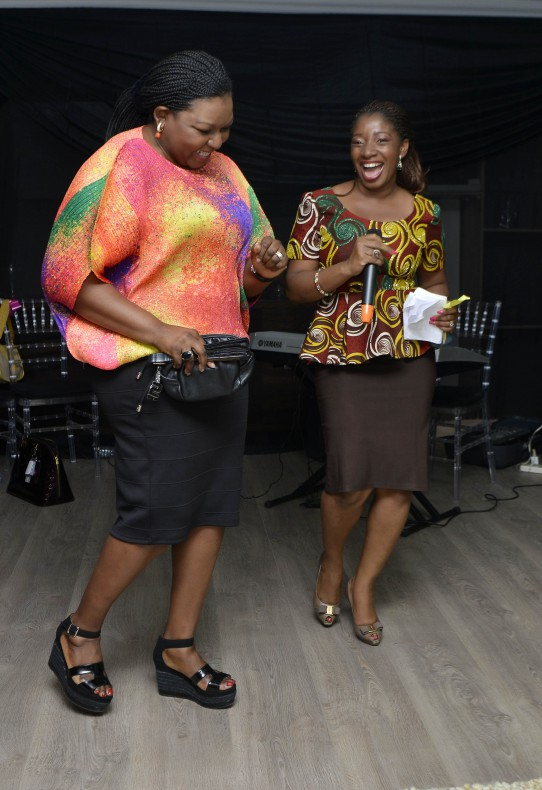 Bola Adesola dancing on her way up to the stage. I love powerful women who can have fun! I rocked along as I ushered her up.