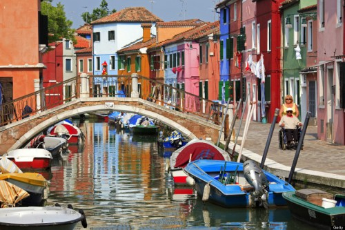 Colourful houses in Burano.