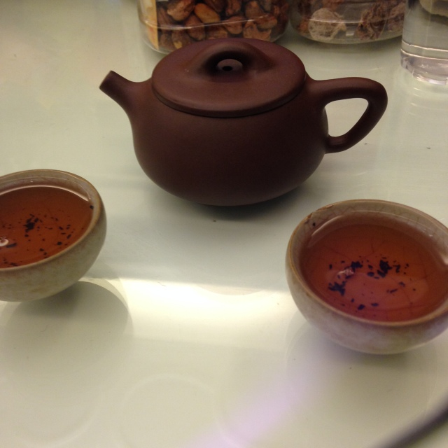 As I had come to expect in China, this meal also ended with some tea. I brought back some of this calming digestion aiding tea, feel free to stop by and have some with me.
